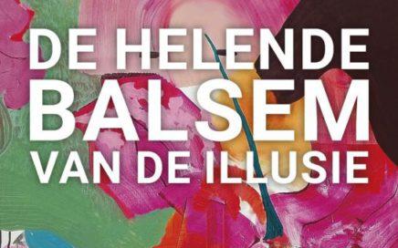 Flyer voor expositie Ilonka Bannink de helende balsem van de illusie