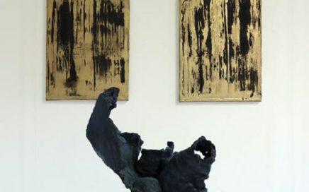 Flyer voor expositie Paragone - eli zegers en Roland Spitzer