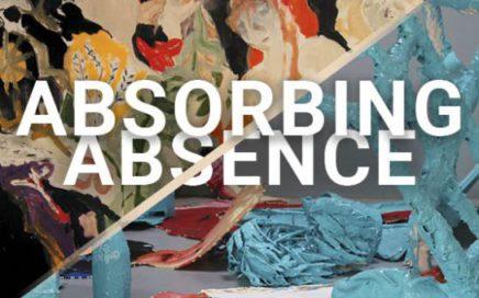 Flyer voor expositie Hilde Onis en Elmar Ipskamp Absorbing Absence
