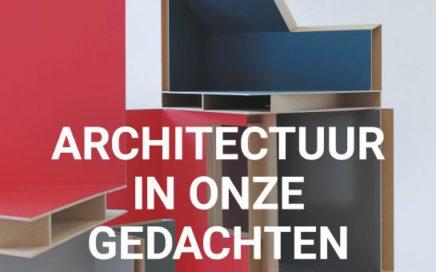 Flyer van expositie Aaltsje Venema architectuur in onze gedachten