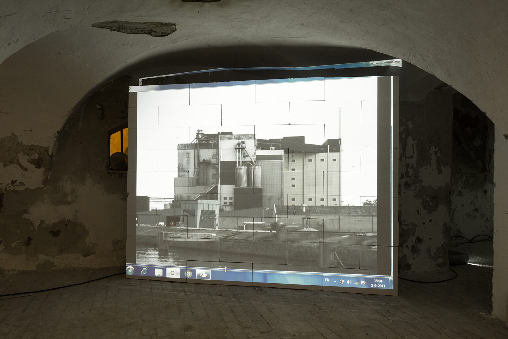 Geprojecteerde afbeelding van een fabriek