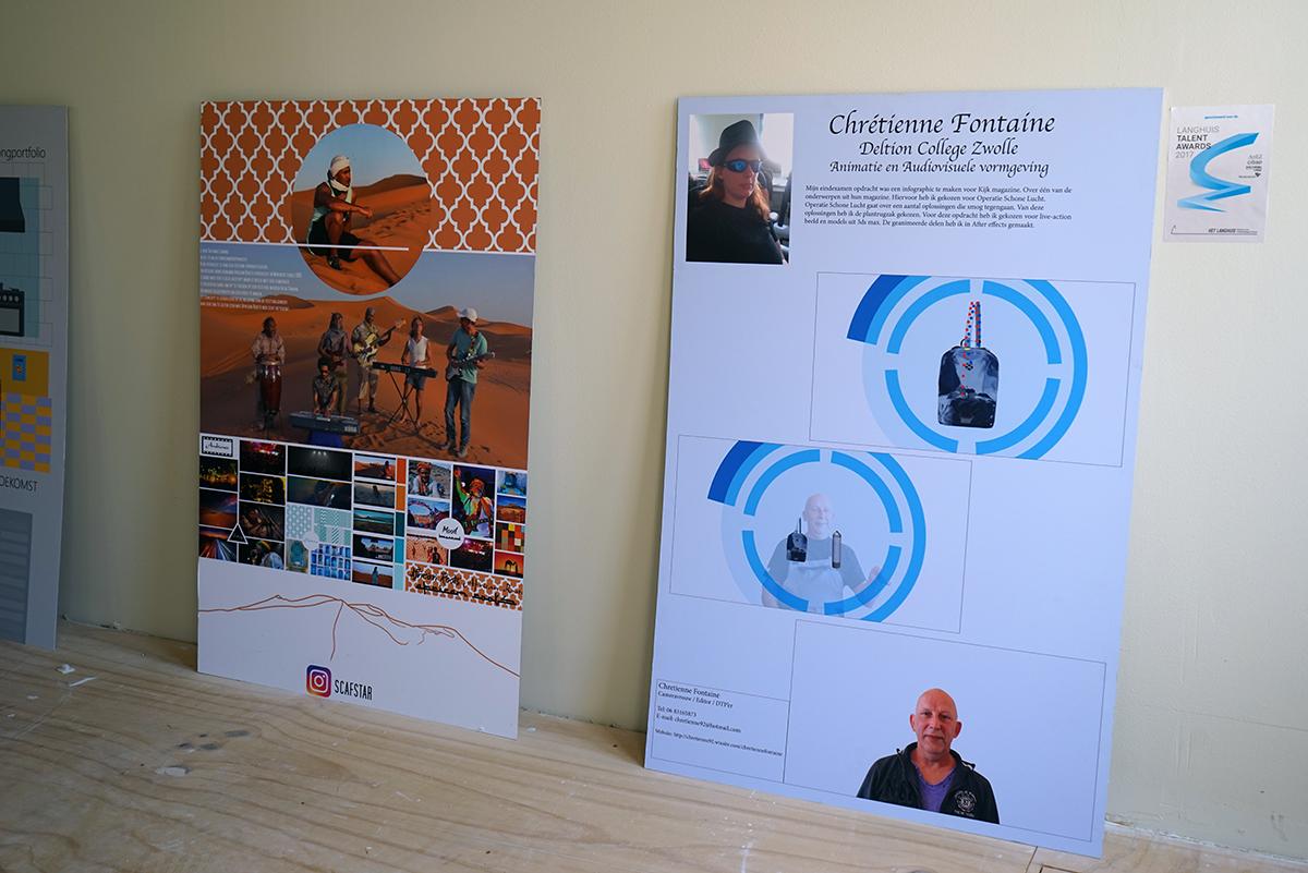 Een poster over animatie en audiovisuele vormgeven van Chretienne Fontaine van het Deltion college