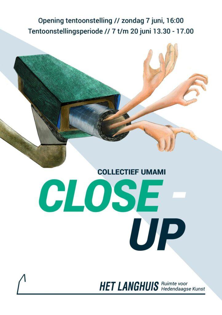 Het onderwerp van de expositie CLOSE-UP is privacy. Hoe deze geschonden wordt, en hoe we ons hierbij voelen.